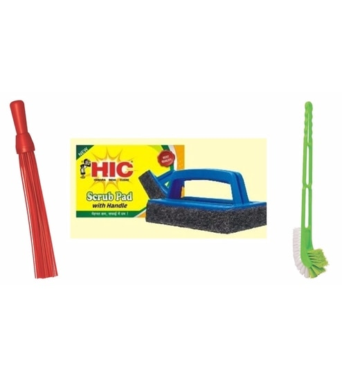 Buy HIC Toilet Cleaning Solution with Double Hockey Toilet Brush ...