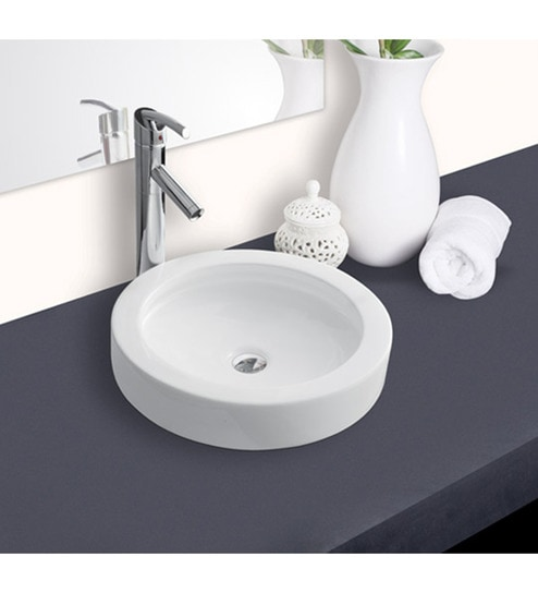 Amazing Hindware Splendor Round Ceramic Table Top Wash Basin (Model No: 91082) Great Pictures