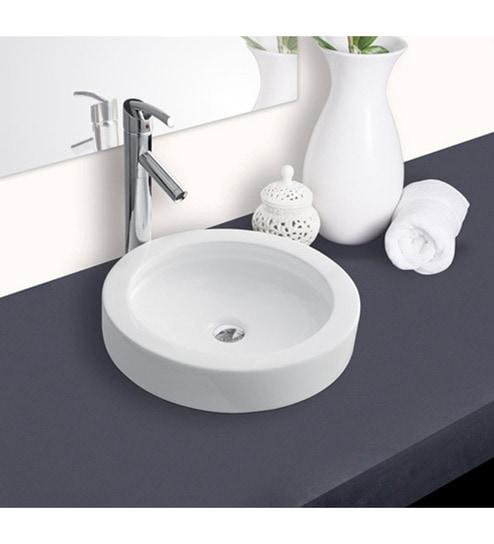 Hindware Splendor Round Ceramic Table Top Wash Basin Model No 91082