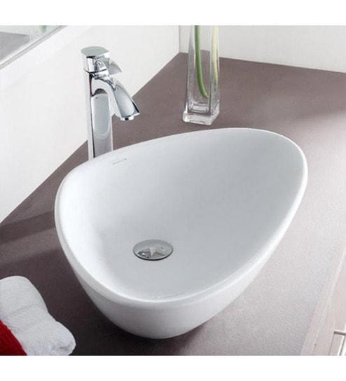 Buy Hindware Wave Ceramic Table Top Wash Basin Model No