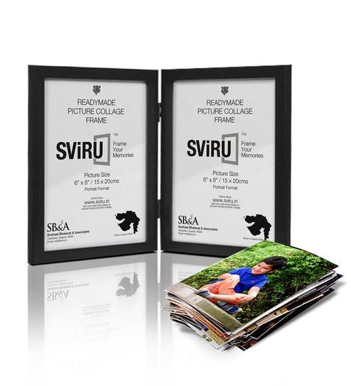 Buy Sviru Black Synthetic Wood 6 X 8 Inch Folding Photo Frame Online