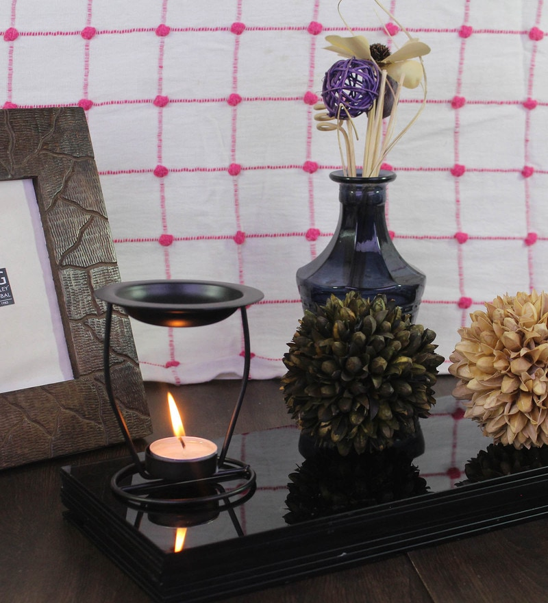 Highly Scented Oil Warmer & Tealights with Fragrances Oil by Hosley