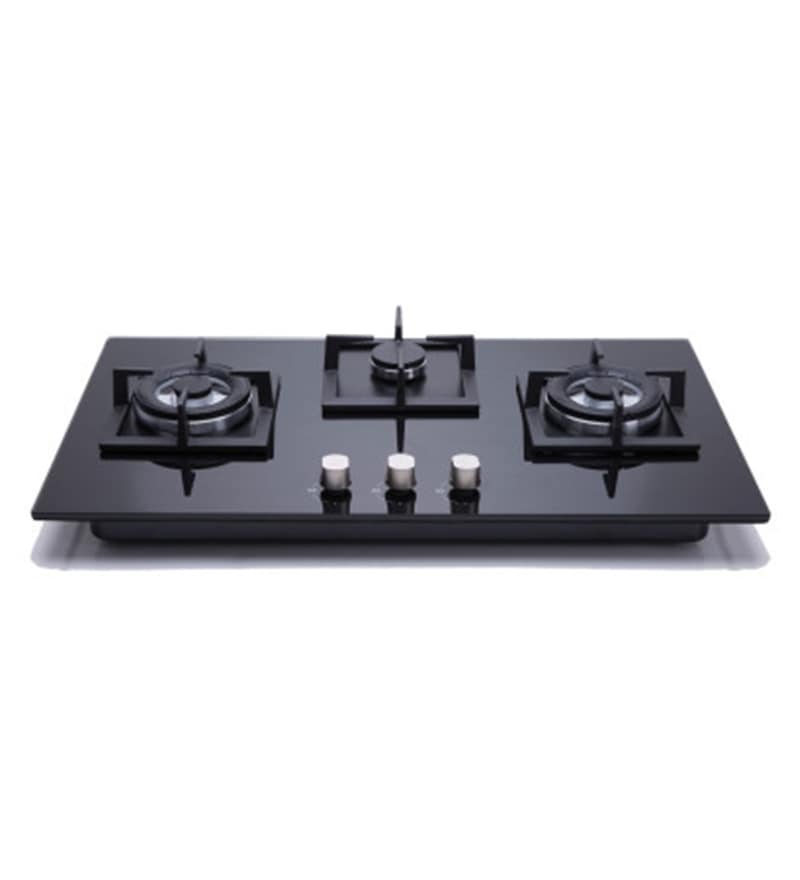 Hindware Elisa Toughened Glass 3 Burner Built-in Hob