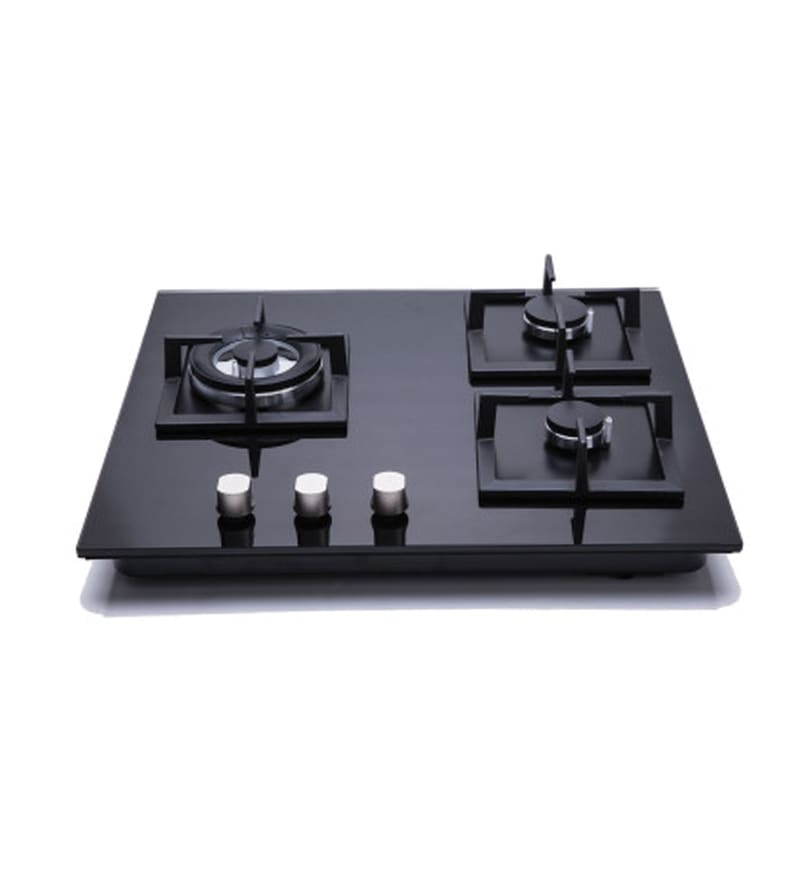 Hindware Gloria Toughened Glass 3 Burner Built-in Hob