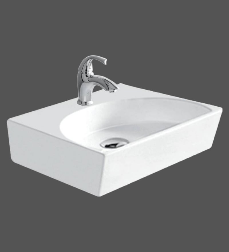 Hindware Orbit Star White Ceramic Basin (Model: 91087)