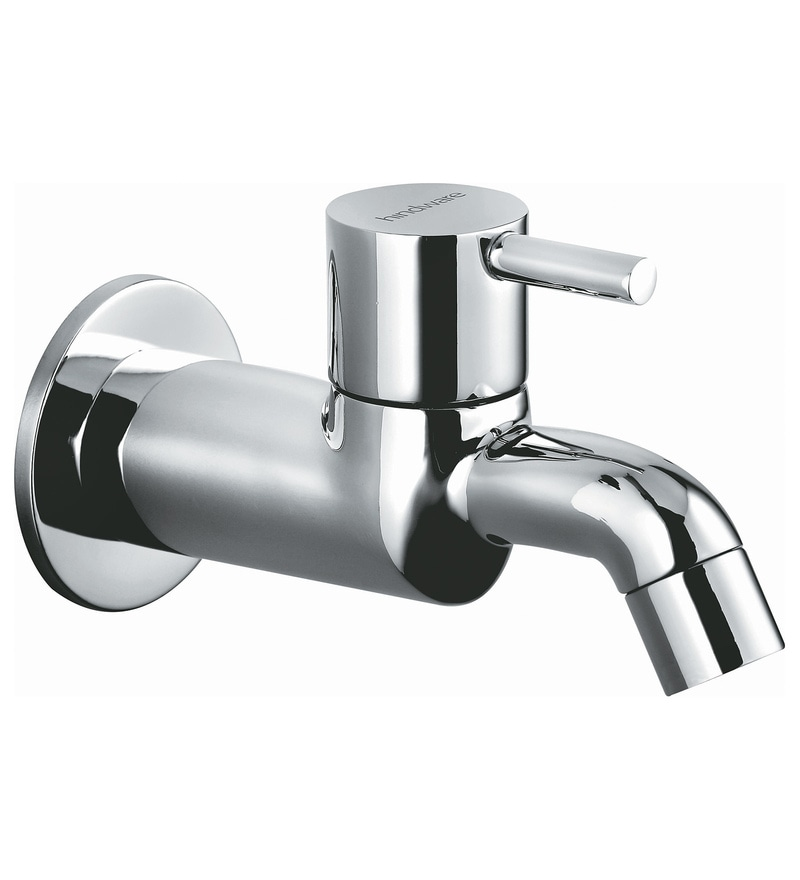Hindware Silver Brass Bib Cock with Wall Flange (Model: F280002Cp)