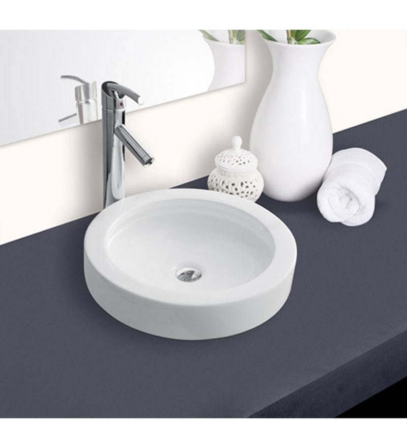 Hindware Splendor Round Ceramic Table Top Wash Basin (Model No: 91082)