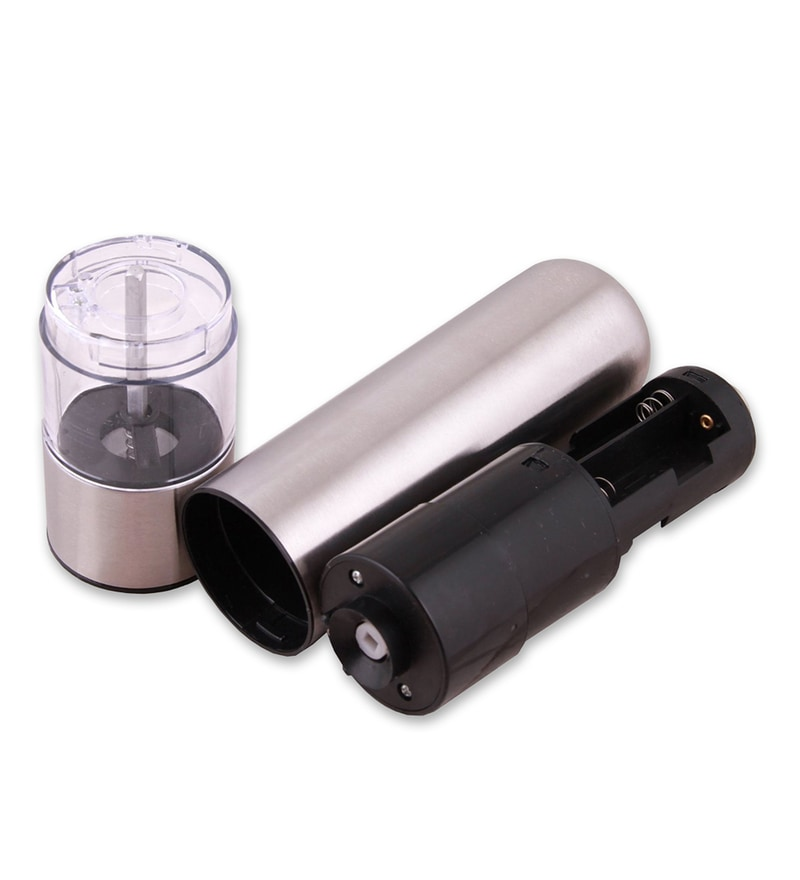 Hitplay Silver Assorted Electric Pepper Grinder