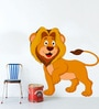 Multicolour Self Adhesive Polyvinyl Film Lion Wall Decal by Highbeam Studio