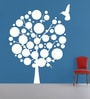 White Self Adhesive Polyvinyl Film Evening Bird Wall Decal by Highbeam Studio