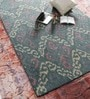 Green Wool 60 x 96 Inch Area Rug by HNS Homes
