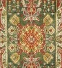 Green Wool 60 x 96 Inch Indian Ethnic Area Rug by HNS Homes