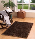 Brown Polyester 60 x 36 Inch Planx Area Rug