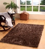Brown Polyester 71 x 47 Inch Ricer Area Rug