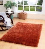 Orange Polyester 71 x 47 Inch Maxer Area Rug