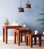 Castleford Set Of Tables in Honey Oak Finish