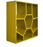 Honeycomb Book Shelf in Olive Green Colour