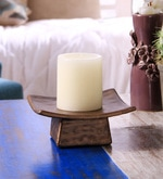 Brown Resin Decorative Pillar Candle Holder