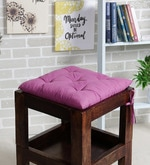 Purple Cotton 16 x 16 Inch Valley of Flowers Flora Chair Pad