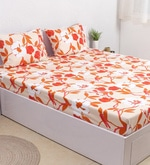 Red 100% Cotton Double Size Bedsheet - Set of 3