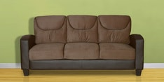 Holmes Three Seater Sofa in Brown Colour