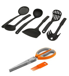 Home Creation Kitchen Laddles With 5 Blades - Set Of 7