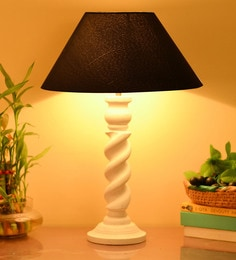 Homesake Blue Cotton Table Lamp