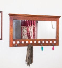 Honey Oak Mango Wood Framed Mirror