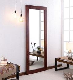 Honey Oak Sheesham Wood Rajputana Handcrafted Full Length Mirror - 1639475