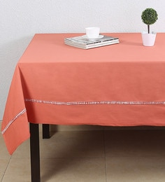 House This Brick Red Red Cotton Table Cover