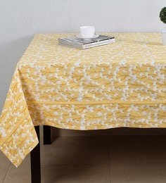 House This Precious Dandelion Yellow Cotton Table Cover - 1649340