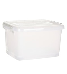 Howards Storage World Easi Store Plastic 35 L Storage Box With Wheels