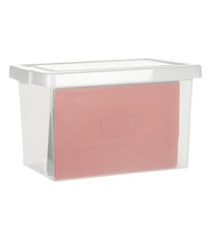 Howards File Box With Clear Lid - Pack Of 2
