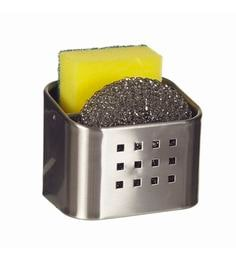 Howards Storage World Stainless Steel Kitchen Caddy With Sponge & Scourer