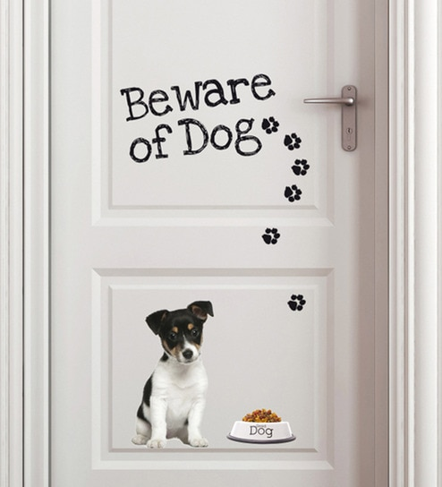 Buy Vinyl Beware of Dog Wall Sticker by Home Decor Line Online ...
