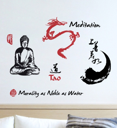 Vinyl Gautam Buddha Wall Sticker By Home Decor Line