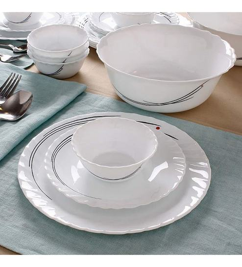 Bormioli Rocco Zitara Dinner Set Of Twenty Pieces White By Home - Invoice maker free download rocco online store