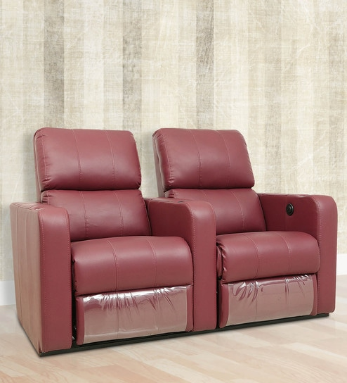 Peachy Home Theater 2 Seater Recliner In Maroon Colour By Star India Andrewgaddart Wooden Chair Designs For Living Room Andrewgaddartcom