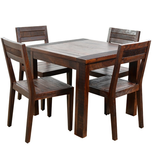 Venus Four Seater Dining Set 1 Table 4 Chairs By Hometown
