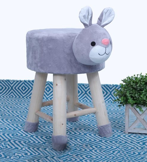 c95ff61d Buy Honey Bunny Kids Stool in Grey Online - Kids Stools - Kids Furniture -  Kids Furniture - Pepperfry Product