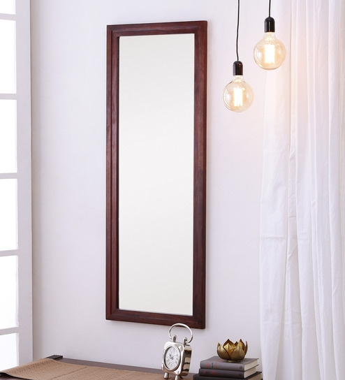 Honey Oak Sheesham Wood Rajputana Handcrafted Full Length Mirror By DHI