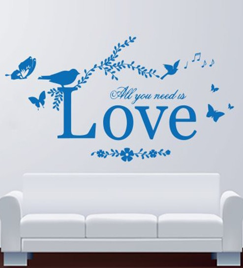 Buy Hoopoe Decor All You Need Is Love Vinyl Wall Decal Online ...