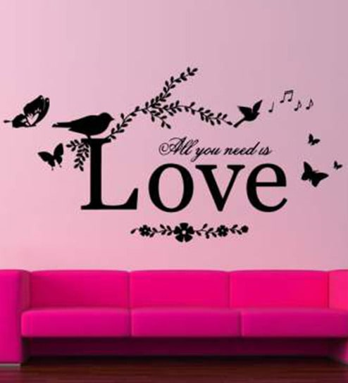 Buy Hoopoe Decor All You Need is Love Vinyl Wall Sticker & Decal ...