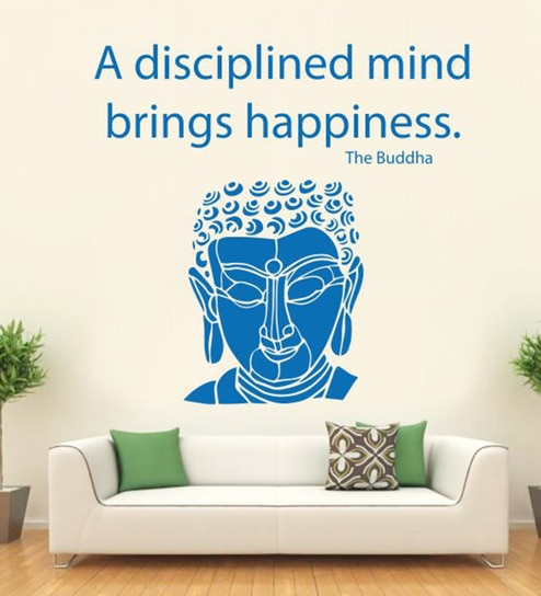 Vinyl Lord Buddha With Quote Wall Decal