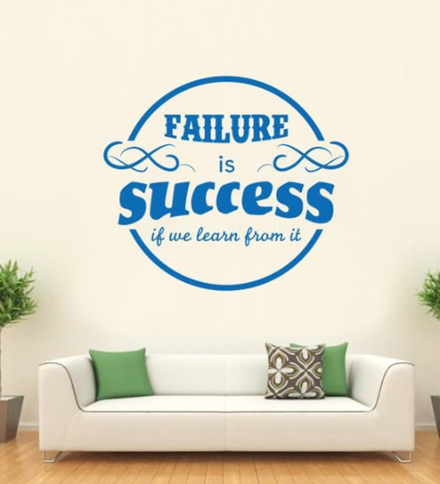 buy hoopoe decor vinyl failure is success wall sticker online
