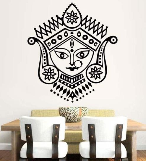 buy hoopoe decor goddess durga vinyl wall sticker & decal online