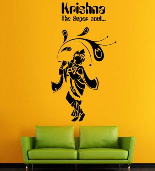 07bc930ba8 Buy Hoopoe Decor Lord Krishna The Super Soul Vinyl Wall Sticker ...