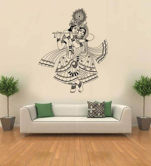 Hoopoe decor lord krishna vinyl wall sticker decal