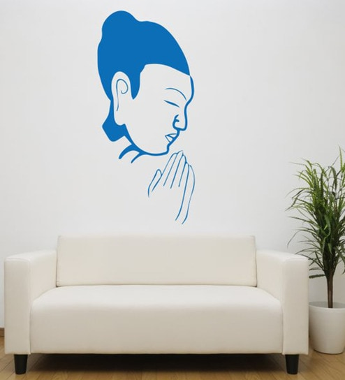 Hoopoe Decor Vinyl Praying Buddha Wall Decal