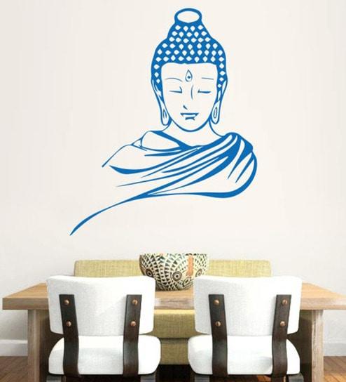 buy hoopoe decor vinyl meditating buddha wall decal online